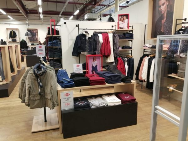 photo amenagement magasin lee cooper toutain